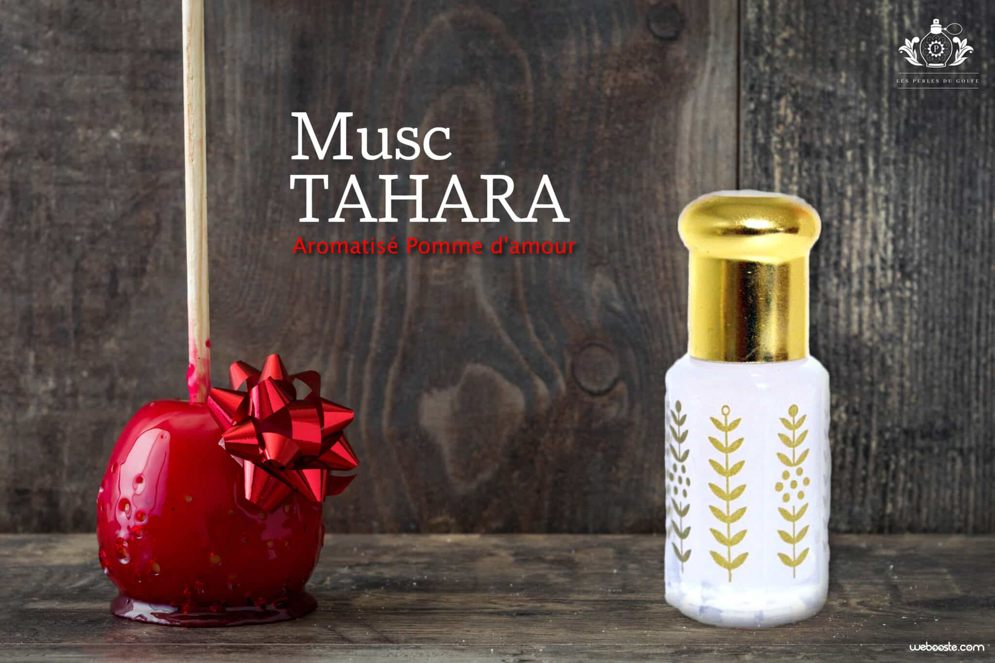 musc tahara aromatisé pomme amour bois