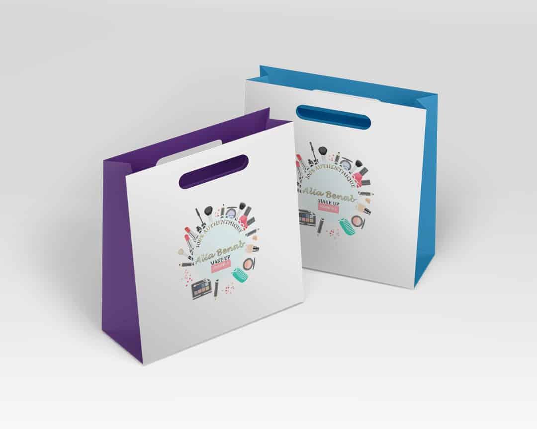 deux sac shopping logo alia benab